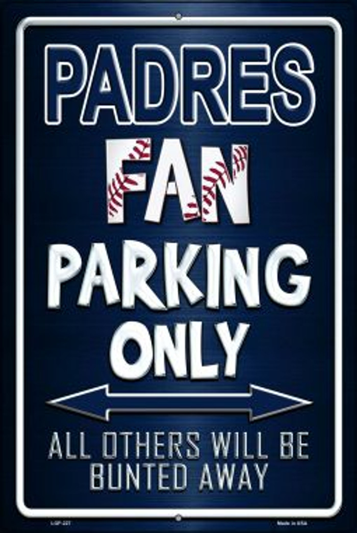 Padres Novelty Metal Large Parking Sign LGP-227