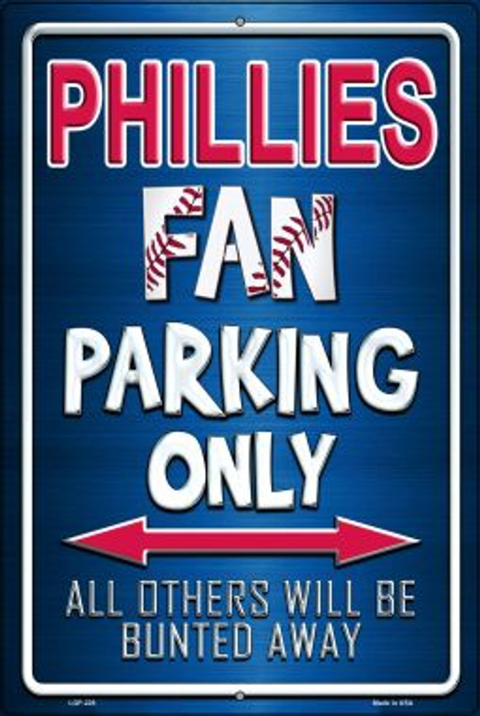 Phillies Novelty Metal Large Parking Sign LGP-228