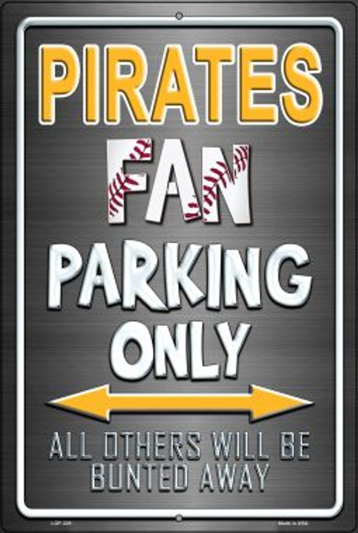 Pirates Novelty Metal Large Parking Sign LGP-229