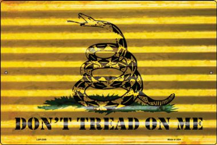 Don't Tread On Me Novelty Metal Large Parking Sign LGP-2305