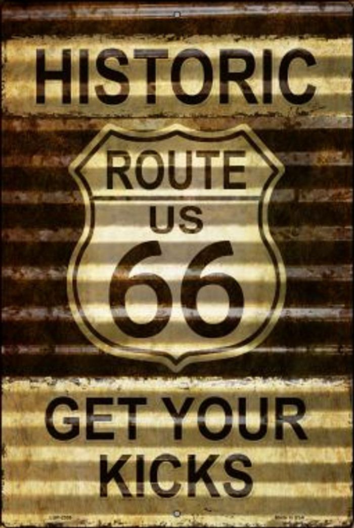 Historic Route 66 Novelty Metal Large Parking Sign LGP-2306
