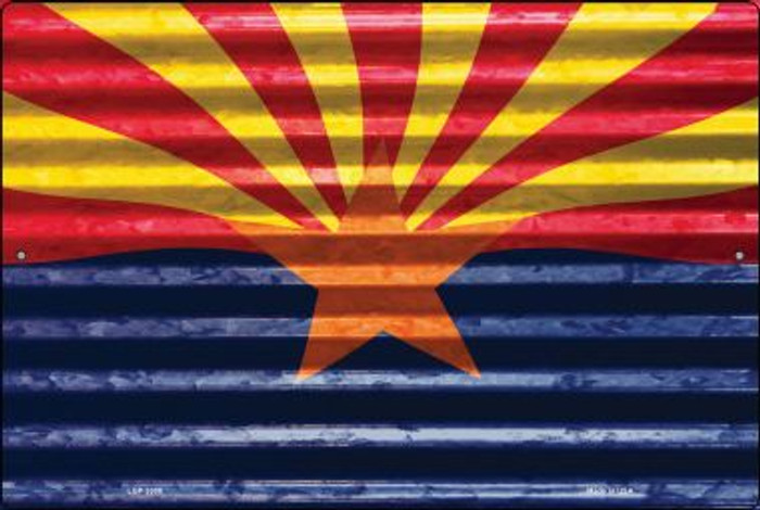 Arizona Flag Novelty Metal Large Parking Sign LGP-2308