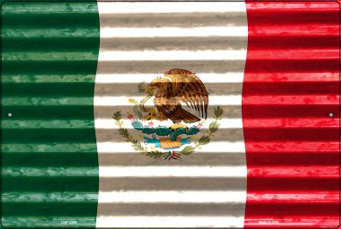Mexico Flag Novelty Metal Large Parking Sign LGP-2309