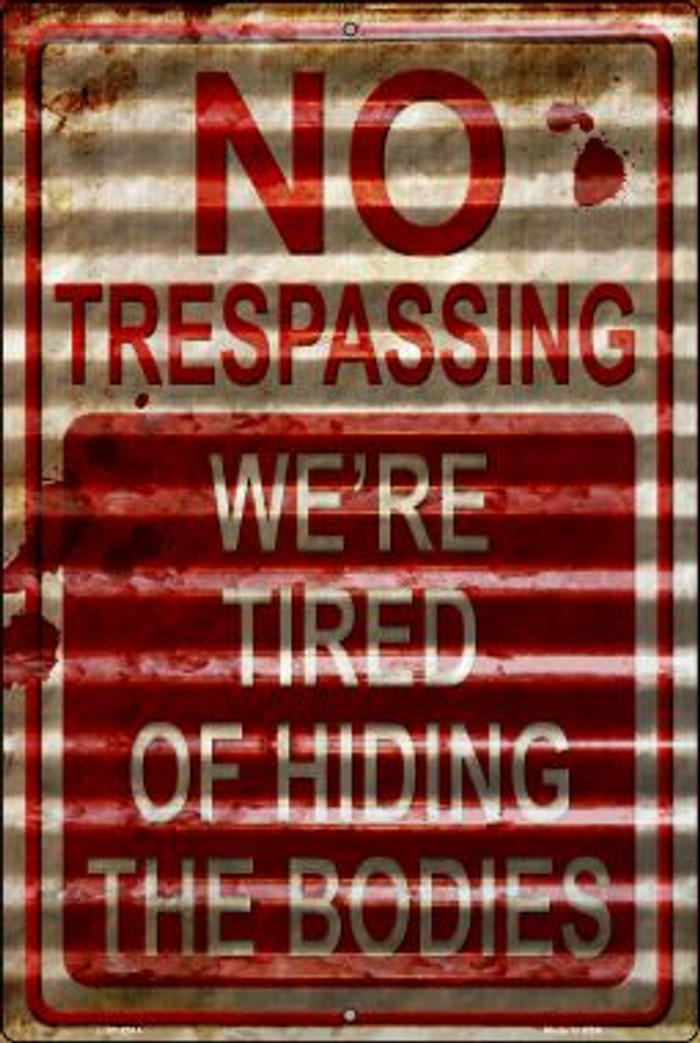 No Trespassing Novelty Metal Large Parking Sign LGP-2314