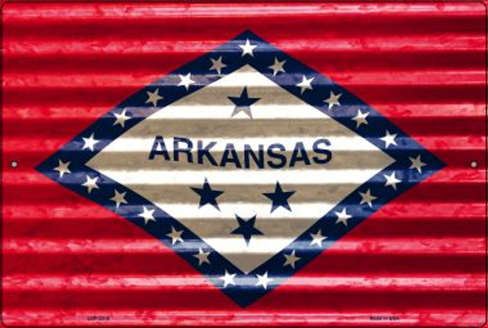 Arkansas Flag Novelty Metal Large Parking Sign LGP-2318