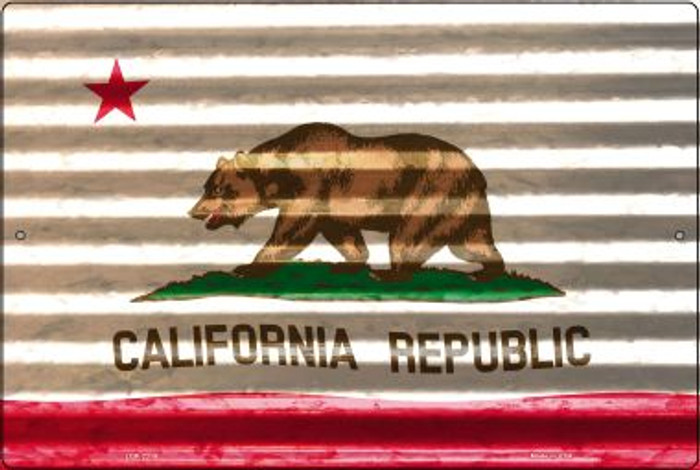 California Flag Novelty Metal Large Parking Sign LGP-2319