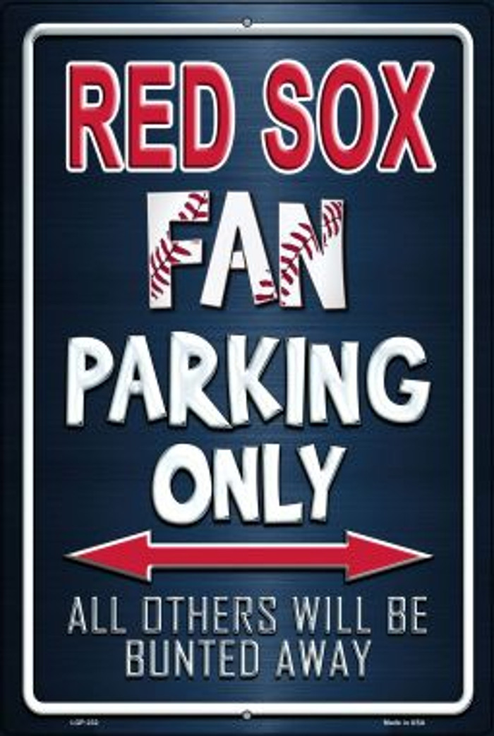 Red Sox Novelty Metal Large Parking Sign LGP-232