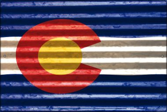 Colorado Flag Novelty Metal Large Parking Sign LGP-2320