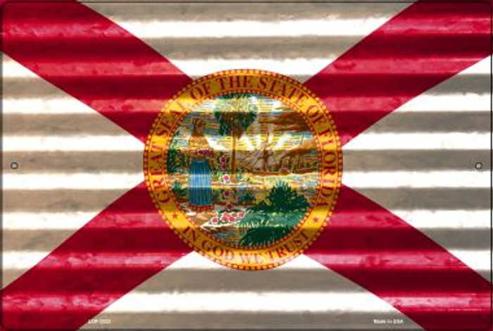Florida Flag Novelty Metal Large Parking Sign LGP-2323