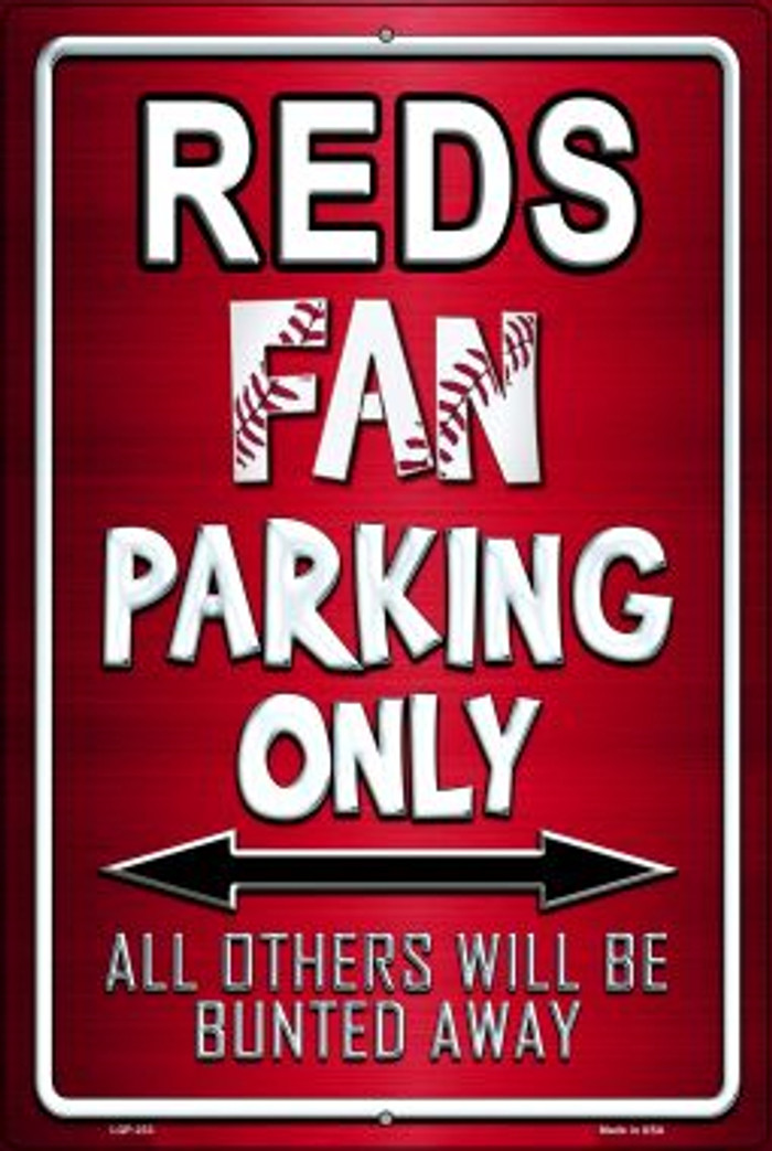 Reds Novelty Metal Large Parking Sign LGP-233