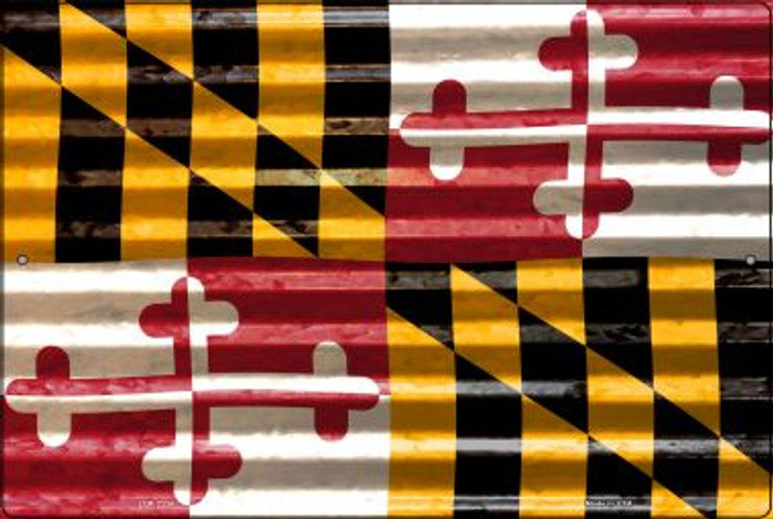 Maryland Flag Novelty Metal Large Parking Sign LGP-2334
