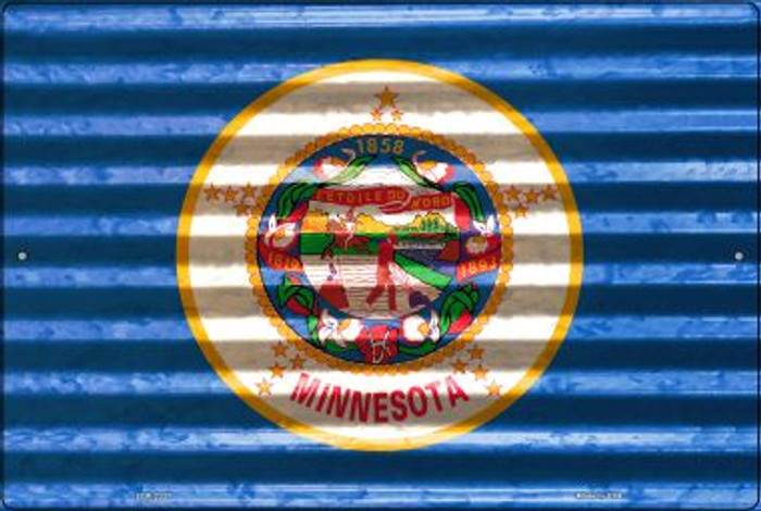 Minnesota Flag Novelty Metal Large Parking Sign LGP-2337