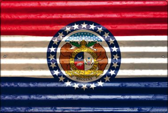 Missouri Flag Novelty Metal Large Parking Sign LGP-2339