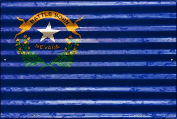 Nevada Flag Novelty Metal Large Parking Sign LGP-2342