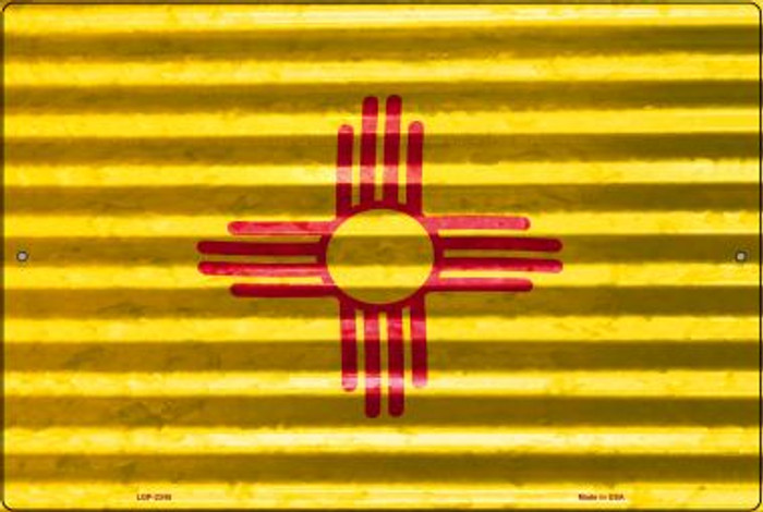 New Mexico Flag Novelty Metal Large Parking Sign LGP-2345