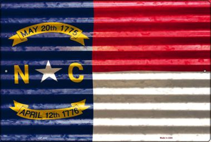 North Carolina Flag Novelty Metal Large Parking Sign LGP-2347