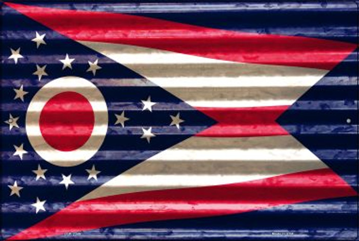 Ohio Flag Novelty Metal Large Parking Sign LGP-2349