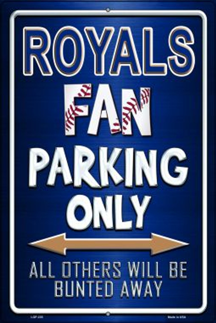 Royals Novelty Metal Large Parking Sign LGP-235