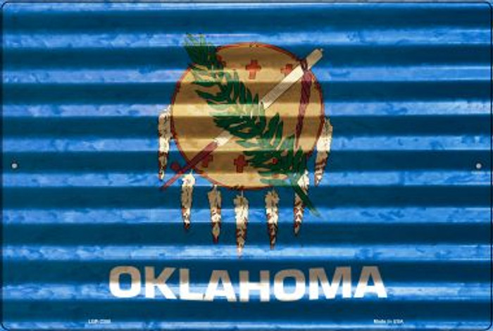 Oklahoma Flag Novelty Metal Large Parking Sign LGP-2350