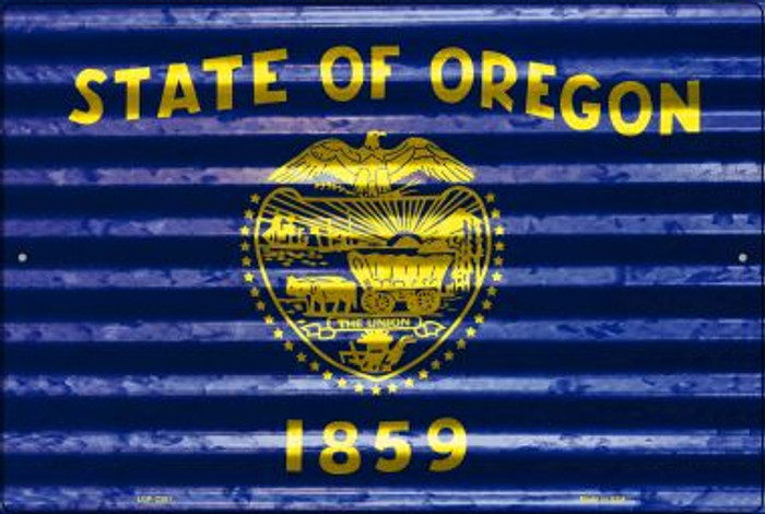 Oregon Flag Novelty Metal Large Parking Sign LGP-2351
