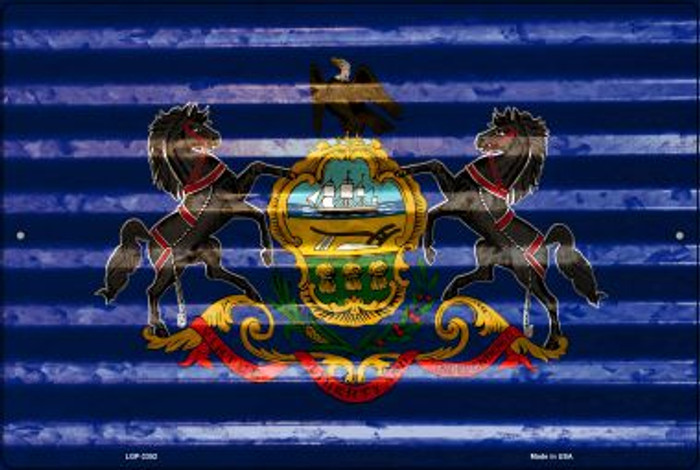 Pennsylvania Flag Novelty Metal Large Parking Sign LGP-2352