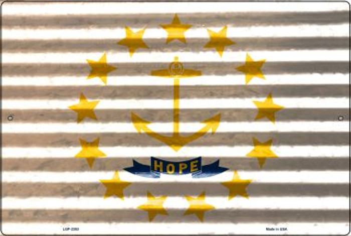 Rhode Island Flag Novelty Metal Large Parking Sign LGP-2353