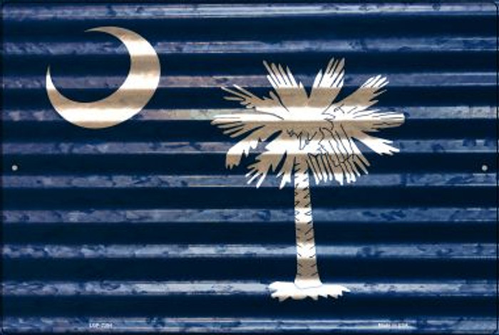 South Carolina Flag Novelty Metal Large Parking Sign LGP-2354