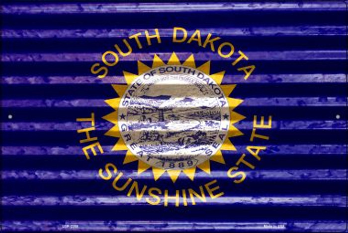 South Dakota Flag Novelty Metal Large Parking Sign LGP-2355