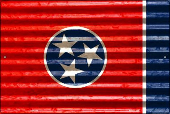 Tennessee Flag Novelty Metal Large Parking Sign LGP-2356