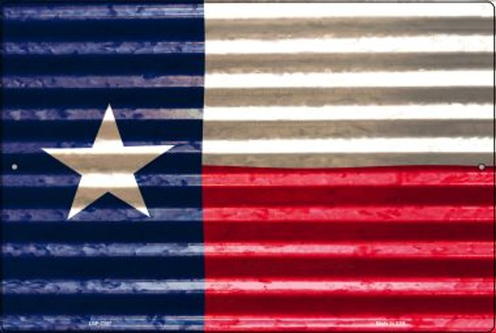 Texas Flag Novelty Metal Large Parking Sign LGP-2357