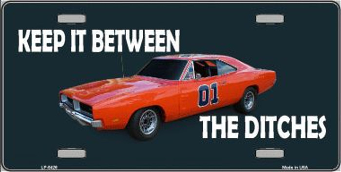 Between The Ditches Metal Novelty License Plate LP-5426