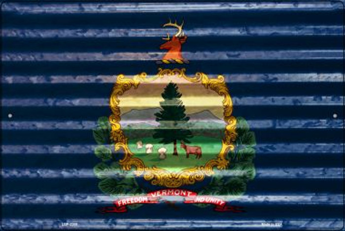 Vermont Flag Novelty Metal Large Parking Sign LGP-2359