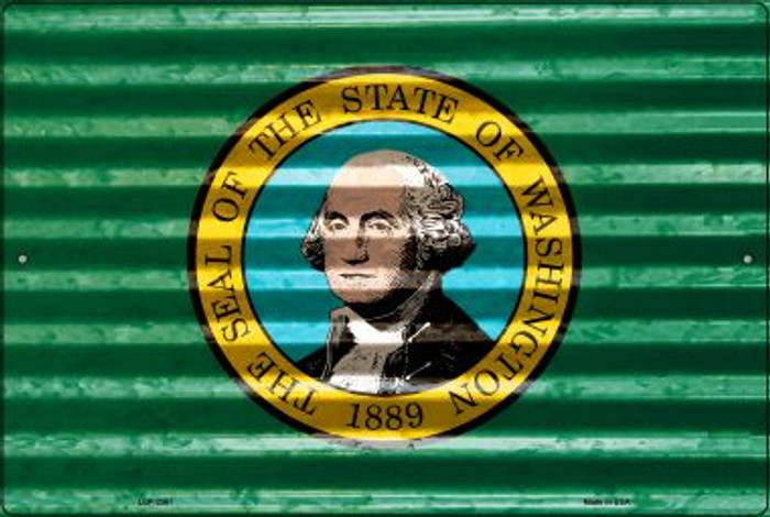 Washington Flag Novelty Metal Large Parking Sign LGP-2361