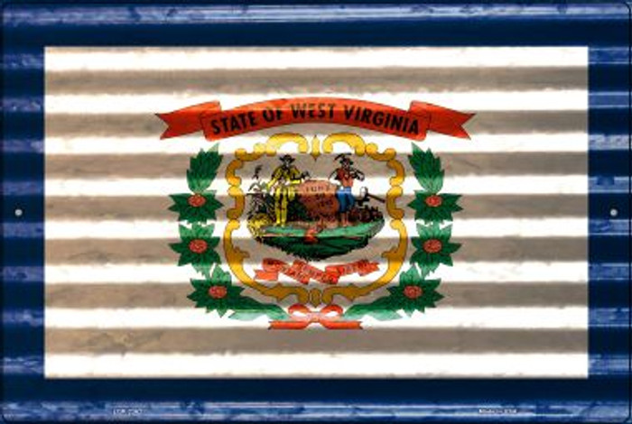 West Virginia Flag Novelty Metal Large Parking Sign LGP-2362