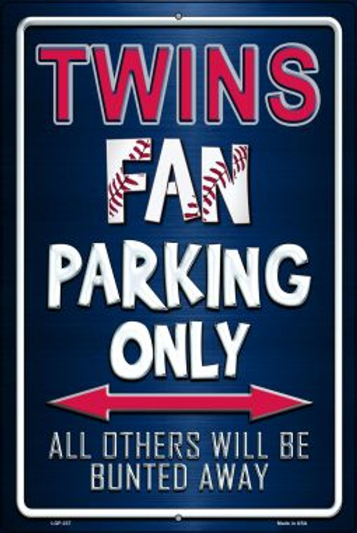 Twins Novelty Metal Large Parking Sign LGP-237