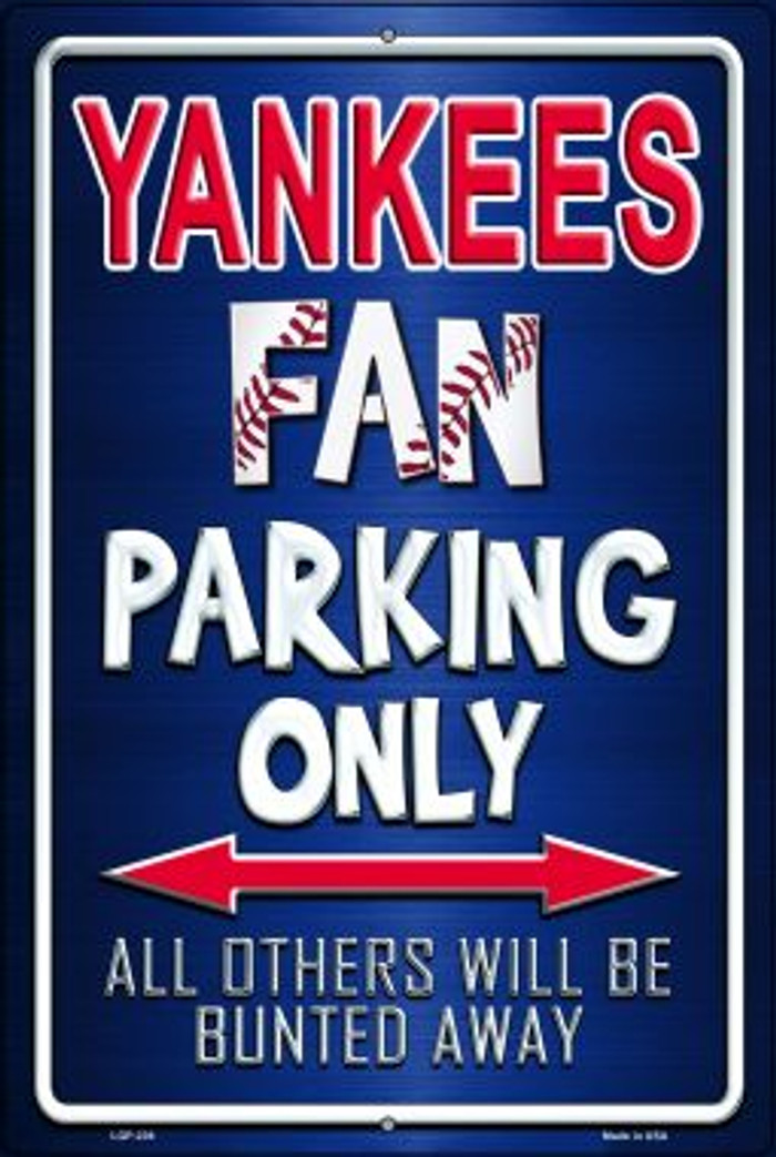 Yankees Novelty Metal Large Parking Sign LGP-239