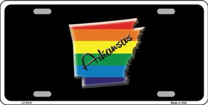 Arkansas Rainbow Metal Novelty License Plate LP-6318