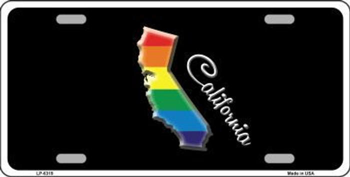 California Rainbow Metal Novelty License Plate LP-6319