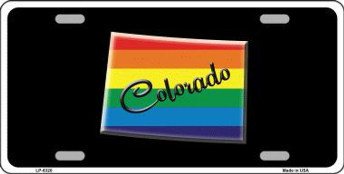 Colorado Rainbow Metal Novelty License Plate LP-6320