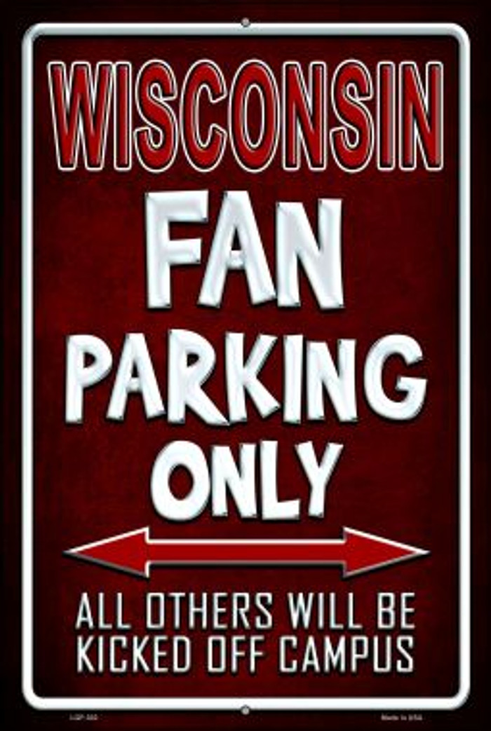 Wisconsin Novelty Metal Large Parking Sign LGP-302