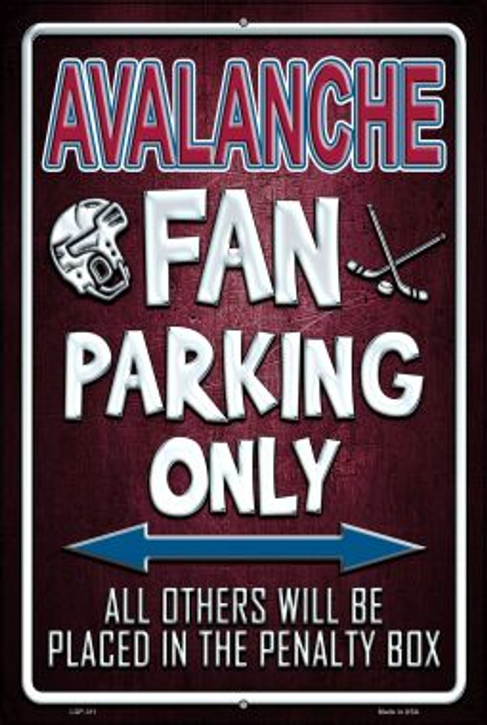 Avalanche Novelty Metal Large Parking Sign LGP-311