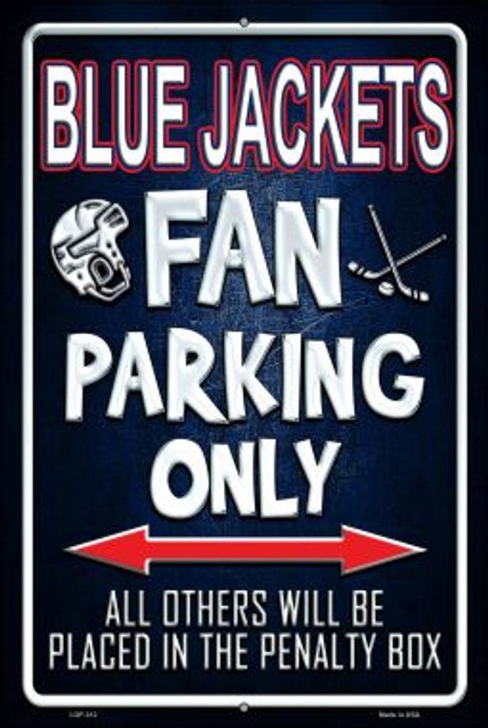 Blue Jackets Novelty Metal Large Parking Sign LGP-312