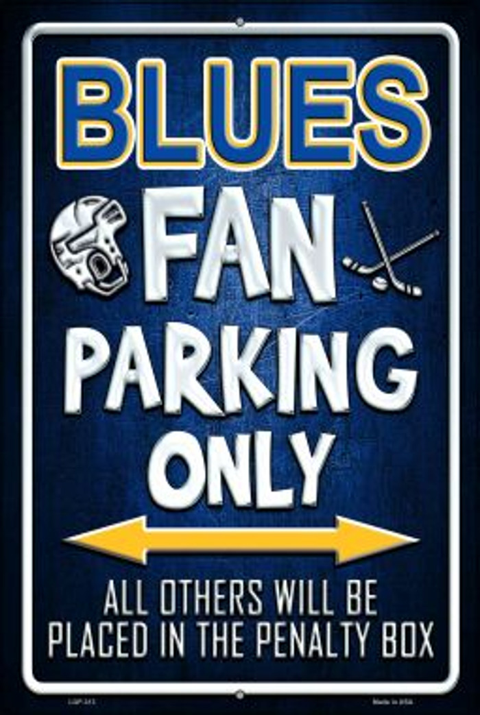 Blues Novelty Metal Large Parking Sign LGP-313