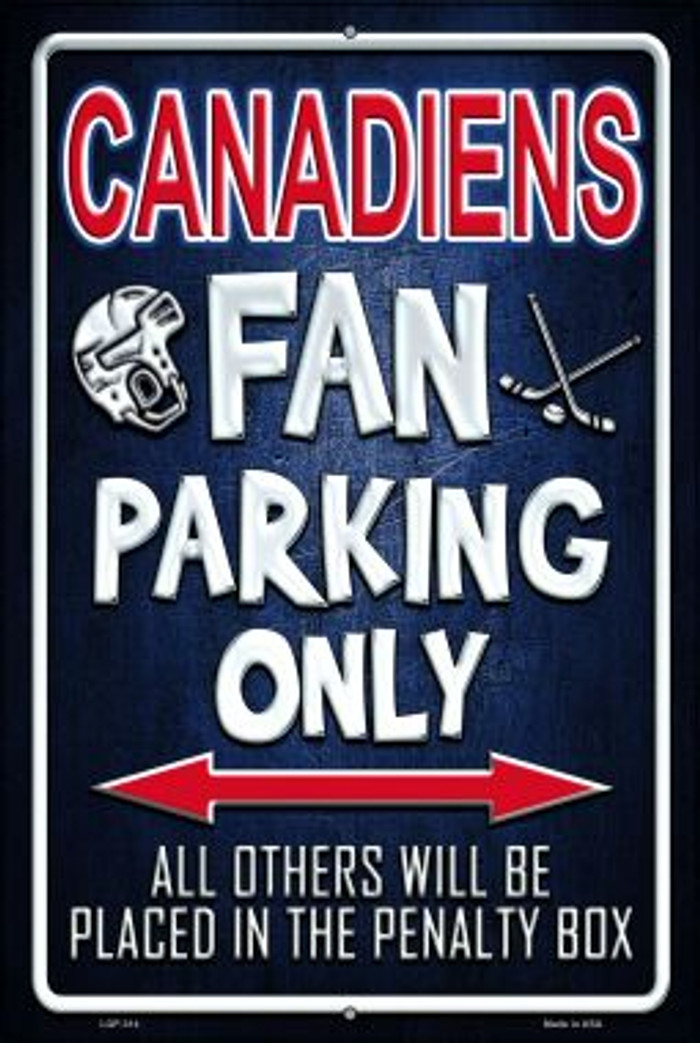 Canadiens Novelty Metal Large Parking Sign LGP-314
