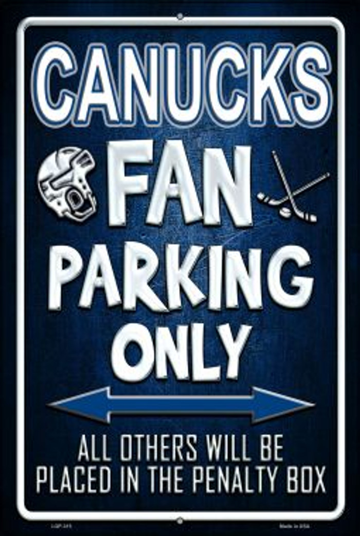 Canucks Novelty Metal Large Parking Sign LGP-315
