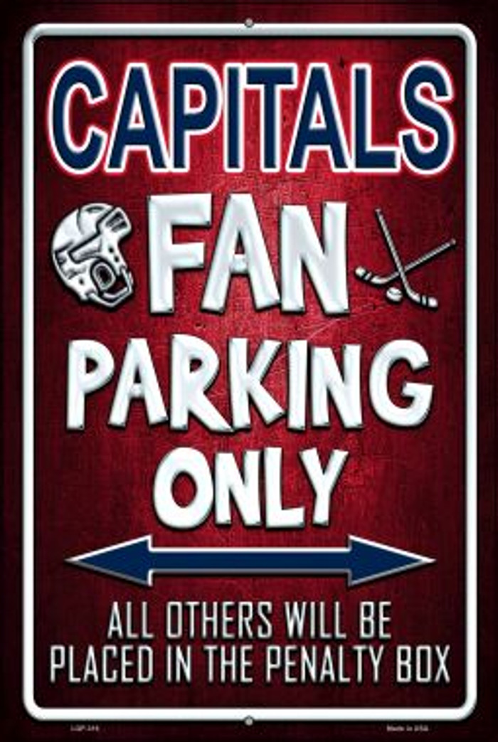 Capitals Novelty Metal Large Parking Sign LGP-316