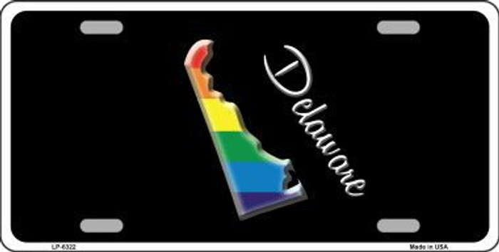 Delaware Rainbow Metal Novelty License Plate LP-6322
