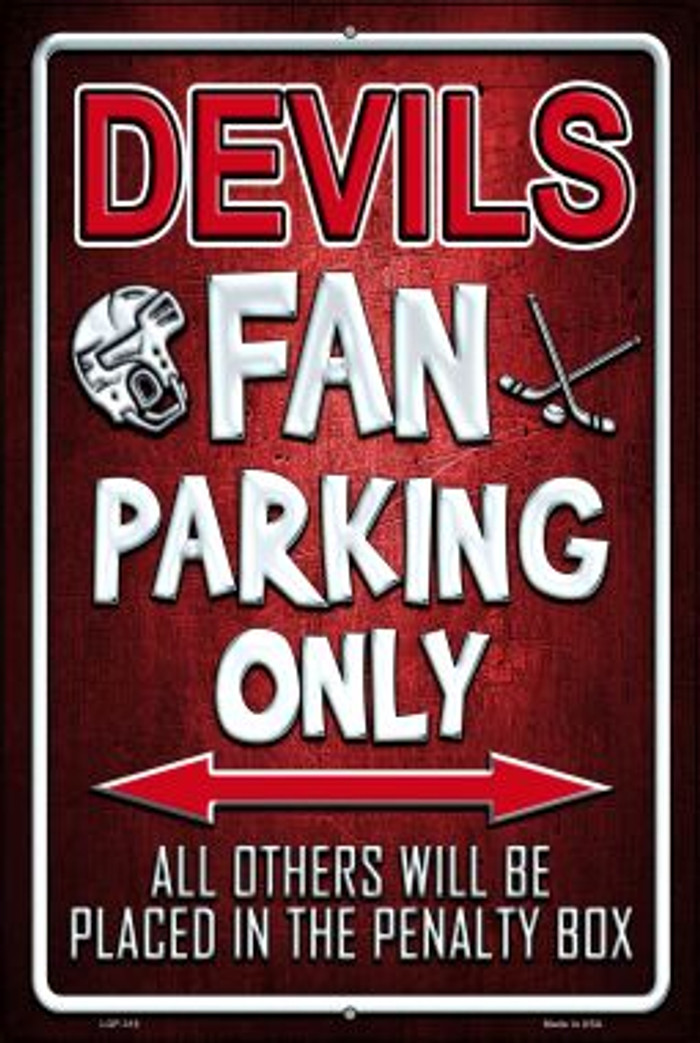 Devils Novelty Metal Large Parking Sign LGP-318
