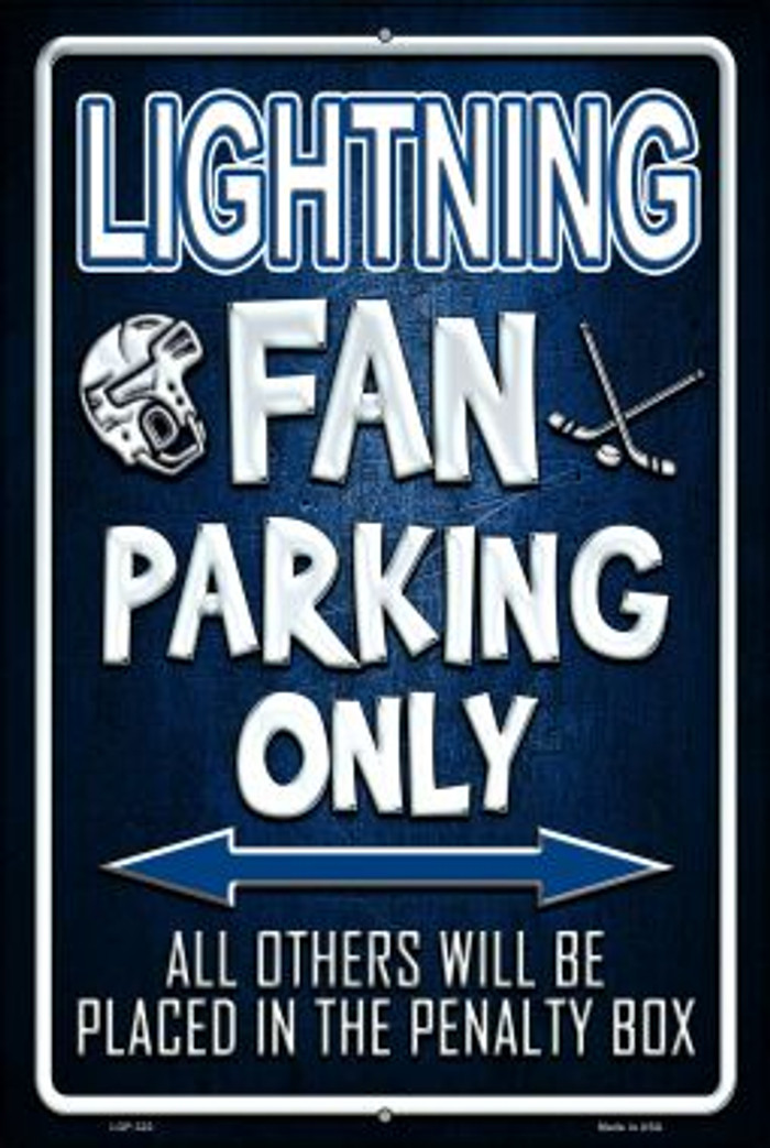 Lightning Novelty Metal Large Parking Sign LGP-322
