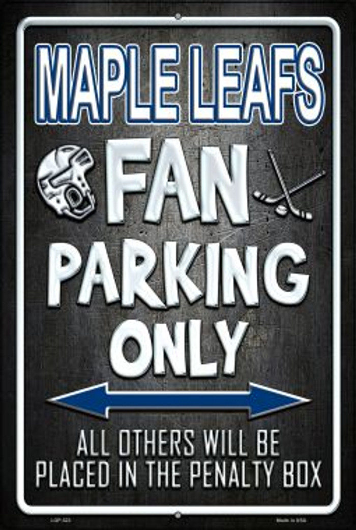 Maple Leafs Novelty Metal Large Parking Sign LGP-323